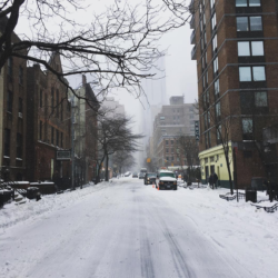 Snowstorm in New York