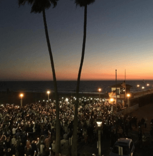 Candlelight vigil for the victims of the Las Vegas tragedy